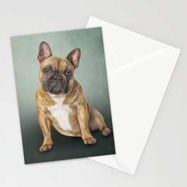 Drawing dog French Bulldog Stationery Cards