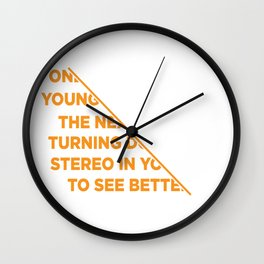 Funny Stereo Vision Gift Wall Clock
