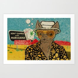 This is Bat Country Art Print
