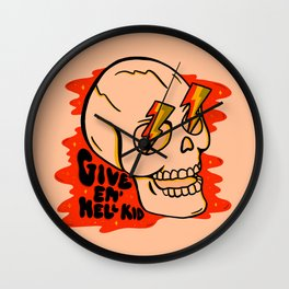 Give 'Em Hell Wall Clock