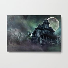 The Haunted House Metal Print