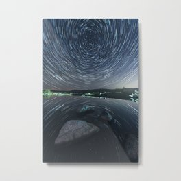 Mirrored Rotation Metal Print
