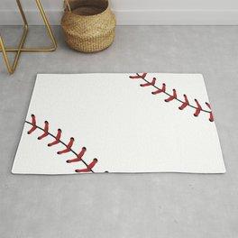 Softball Baseball design red laces Rug