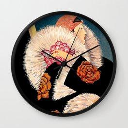 "George Wolfe Plank ""Fur Collar"" Wall Clock"