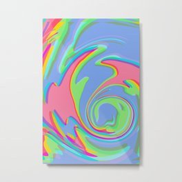 Cotton Candy Wave Metal Print