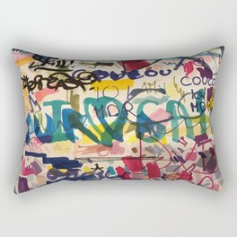 Urban Graffiti Paper Street Art Rectangular Pillow