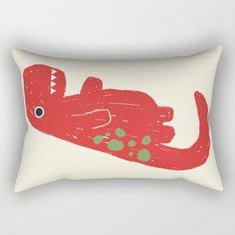 Cute Red T-rex Dinosaur Rectangular Pillow