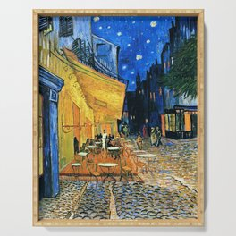 Vincent Van Gogh - Cafe Terrace at Night Serving Tray