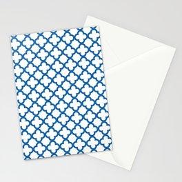 Quatrefoil_Blue Stationery Cards