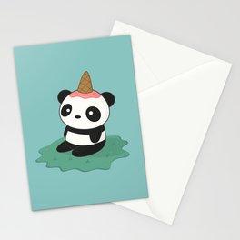 Kawaii Cute Panda Ice Cream Stationery Cards