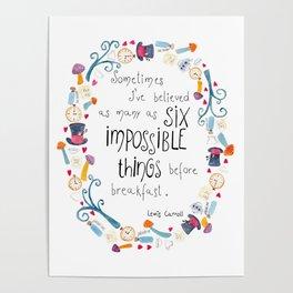 Alice in Wonderland - quote in wreath Poster