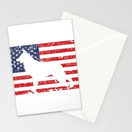 German Shepherd USA Flag Sheepdog Patriotic design Gift Stationery Cards