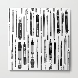 Pent Up Creativity (BW) Metal Print