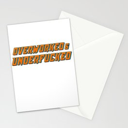 Employee 9 To 5 Work Staff Coworker Colleague Overworked Underfucked Stationery Cards