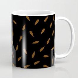 Brown Caramel Drops on Black Background Coffee Mug