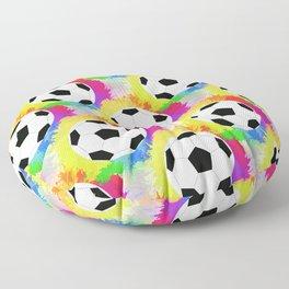 Soccer Pattern   Goal Score Stadium Champion Floor Pillow