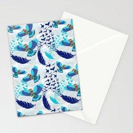 Aerobatics of Indian Roller Bird Stationery Cards