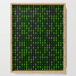 Binary Code Inside Serving Tray