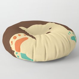 Polar bear paws Floor Pillow