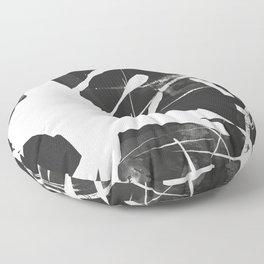 Monstera Leaf Black Floor Pillow