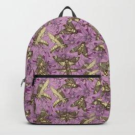 Death's-head hawkmoth purple Backpack