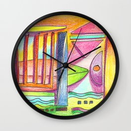 beach abstract Wall Clock