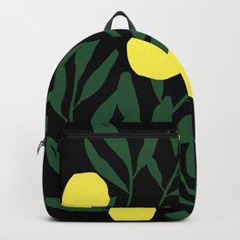 Pastel Lemons / Green and Yellow Refreshing Lemon Print / Abstract Lemon Vibes / Summer Lemons Backpack