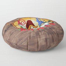 Nordic Gnome Christmas Floor Pillow