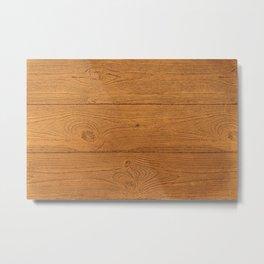 The Cabin Vintage Wood Grain Design Metal Print