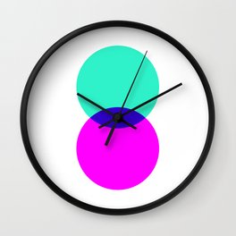 Electric Turquoise + Magenta Wall Clock
