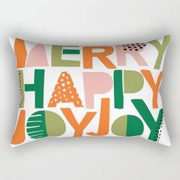 Merry Happy Joy Joy Rectangular Pillow