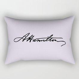 Alexander Hamilton Signature Rectangular Pillow