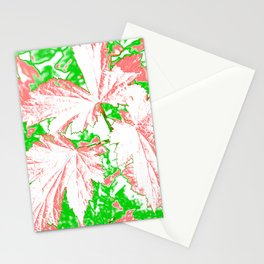 GERANIUM LEAVES PINK Stationery Cards