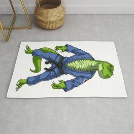 Jiu-Jitsu T-Rex Dinosaur Rug