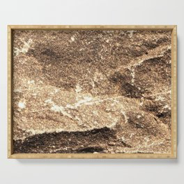 Chiseled Rock Serving Tray