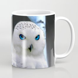 Blue-eyed Snow Owl Coffee Mug
