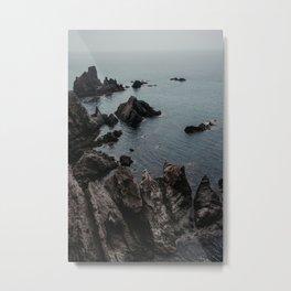 Moody Cliff Nautical Adventure Metal Print