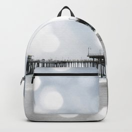 Sparkling grey Santa Monica Pier Backpack