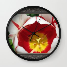 Triumph Tulip named Carnaval de Rio Wall Clock