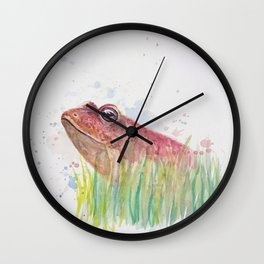 Handsome Frog Wall Clock