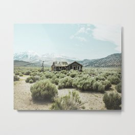 Old house in desert Metal Print
