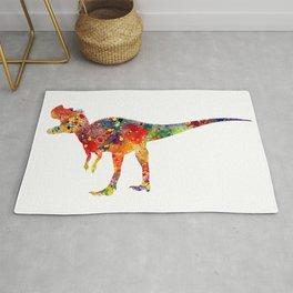 Ceratosaurus Dinosaur Art Colorful Watercolor Art Gift Prehistoric Art Animals Lovers Art Kids Gifts Rug