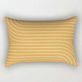 Minimal Line Curvature VIII Rectangular Pillow