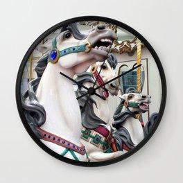Carousel horses 02 Wall Clock