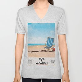 Take a Vacation Unisex V-Neck
