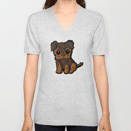 Troy - Silky Terrier Unisex V-Neck