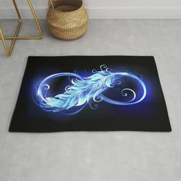 Fiery Symbol of Infinity with Feather Rug