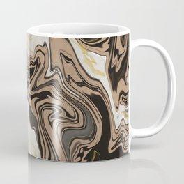 Black and Brown Marble Pattern Coffee Mug