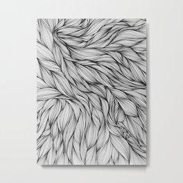 Pin in a Hairstack Metal Print