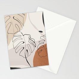 Minimal Abstract Art- Monstera Stationery Cards